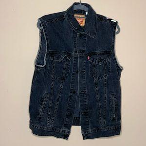 Levi's Black light washed denim vest